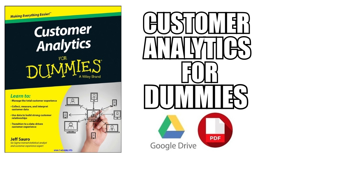 Customer Analytics For Dummies PDF Free Download [Direct Link]