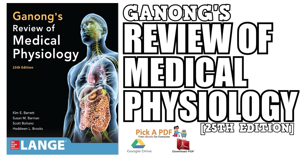 Ganong's Review of Medical Physiology 25th Edition PDF