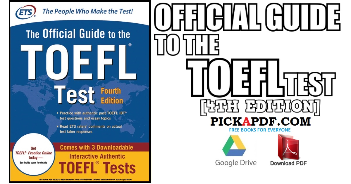Official Guide to the TOEFL Test 4th Edition PDF