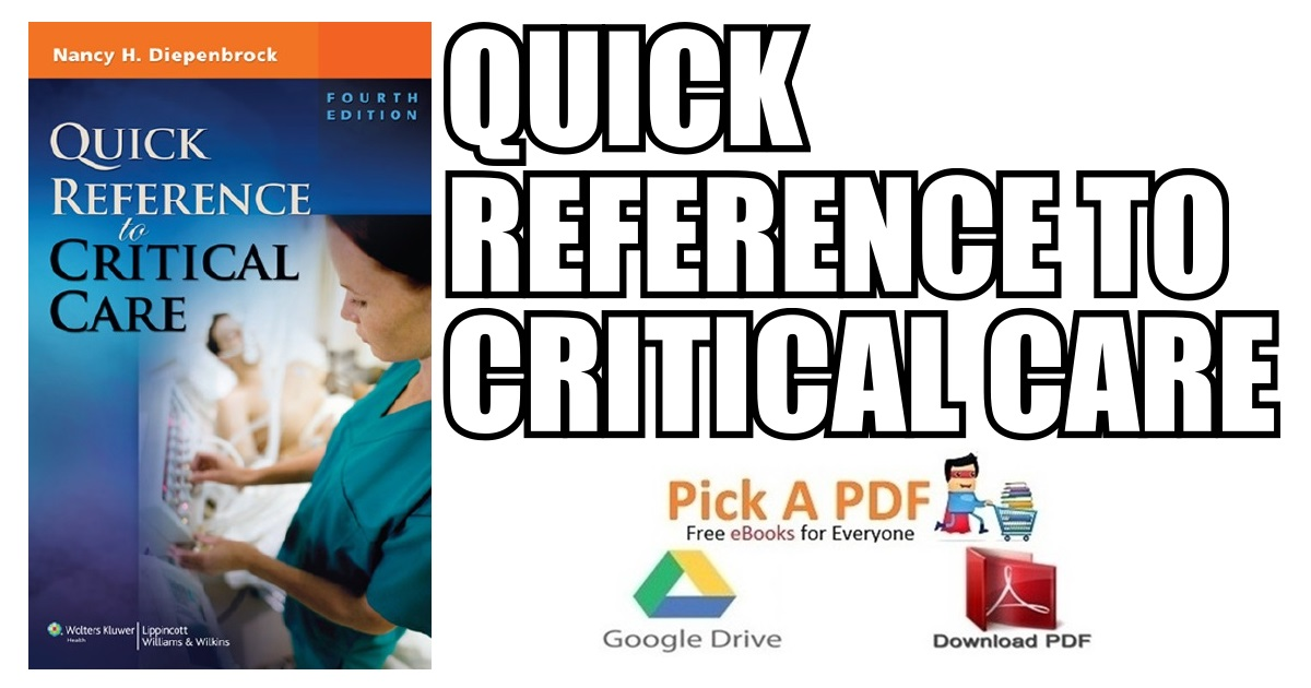 Quick Reference to Critical Care 4th Edition PDF