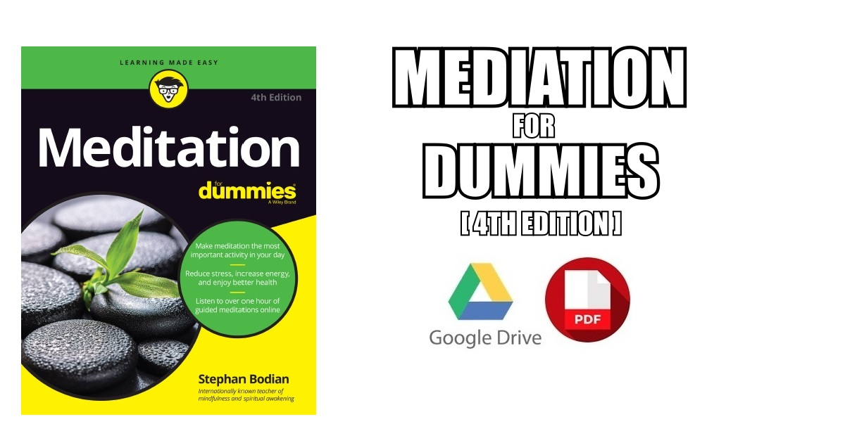 Meditation For Dummies PDF Free Download [Direct Link]