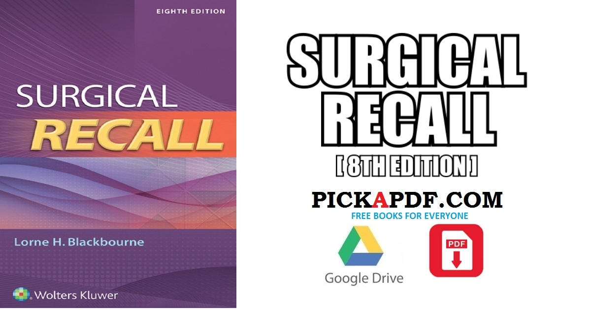 Surgical Recall PDF Free Download [Direct Link]