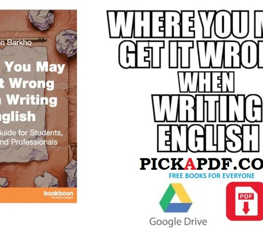Where You May Get it Wrong When Writing English PDF
