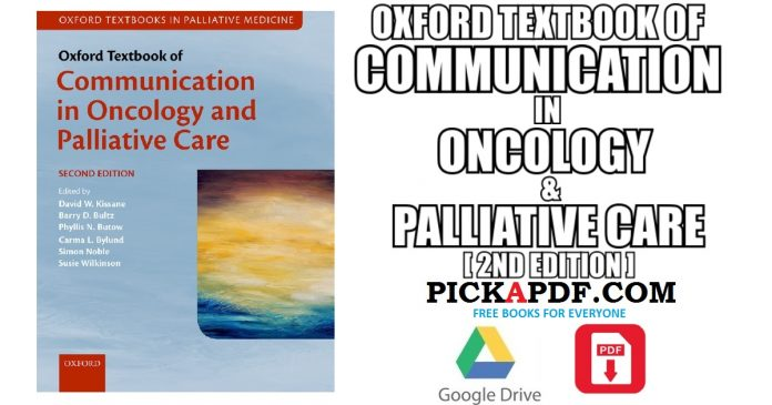 Communication in Oncology and Palliative Care PDF