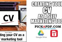 Creating your CV as a self marketing tool PDF