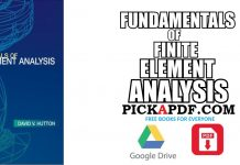 FUNDAMENTALS OF FINITE ELEMENT ANALYSIS PDF