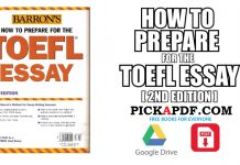 Barron's How To Prepare For The TOEFL Essay PDF