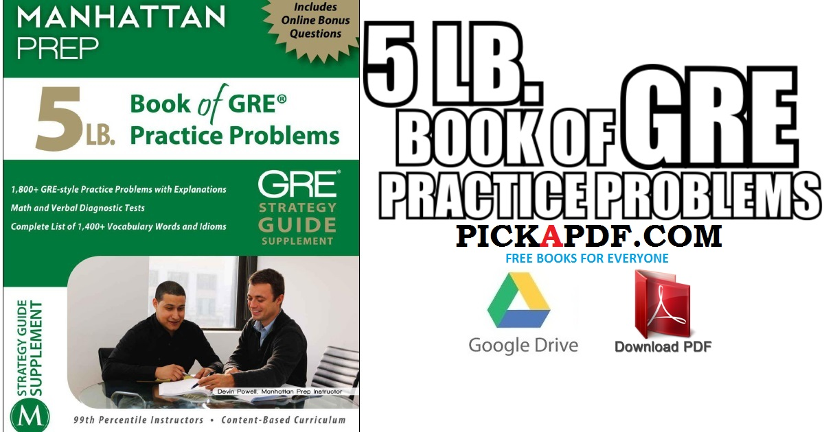 5 LB. Book of GRE Practice Problems PDF