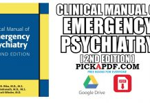 Clinical Manual of Emergency Psychiatry PDF