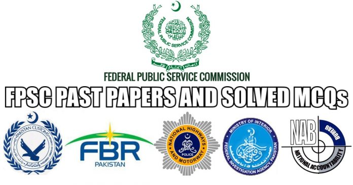 FPSC Past Papers and Solved MCQs PDF