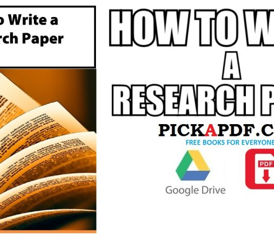 How to Write a Research Paper PDF