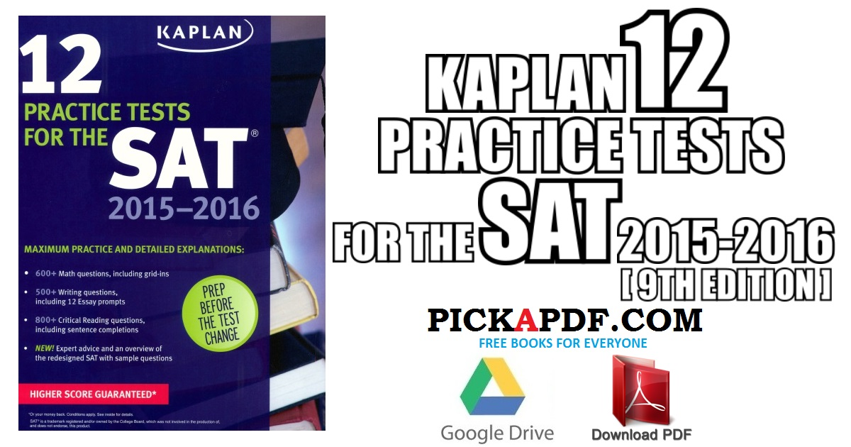Kaplan 12 Practice Tests for the SAT PDF Free Download [Direct Link]