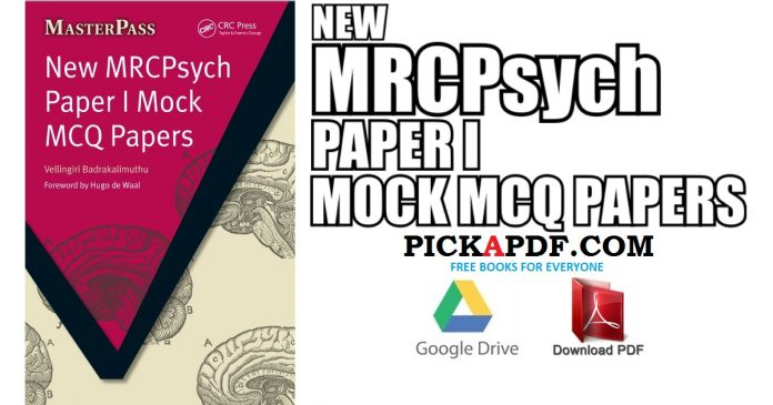New MRCPsych Paper I Mock MCQ Papers PDF