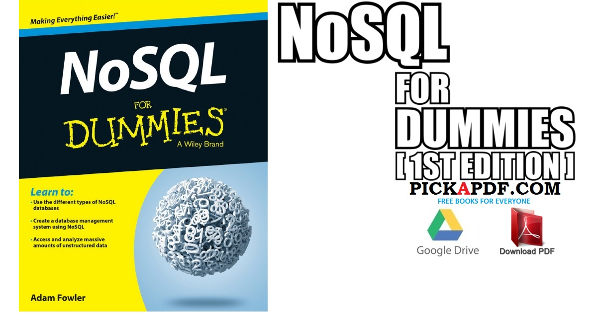 NoSQL For Dummies PDF Free Download [Direct Link]
