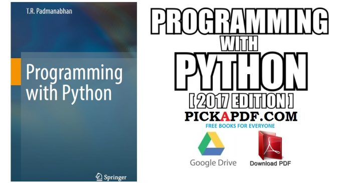 Programming with Python PDF
