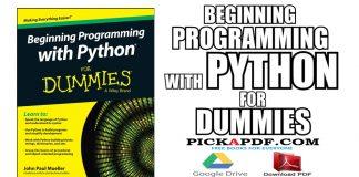 Beginning Programming with Python For Dummies PDF