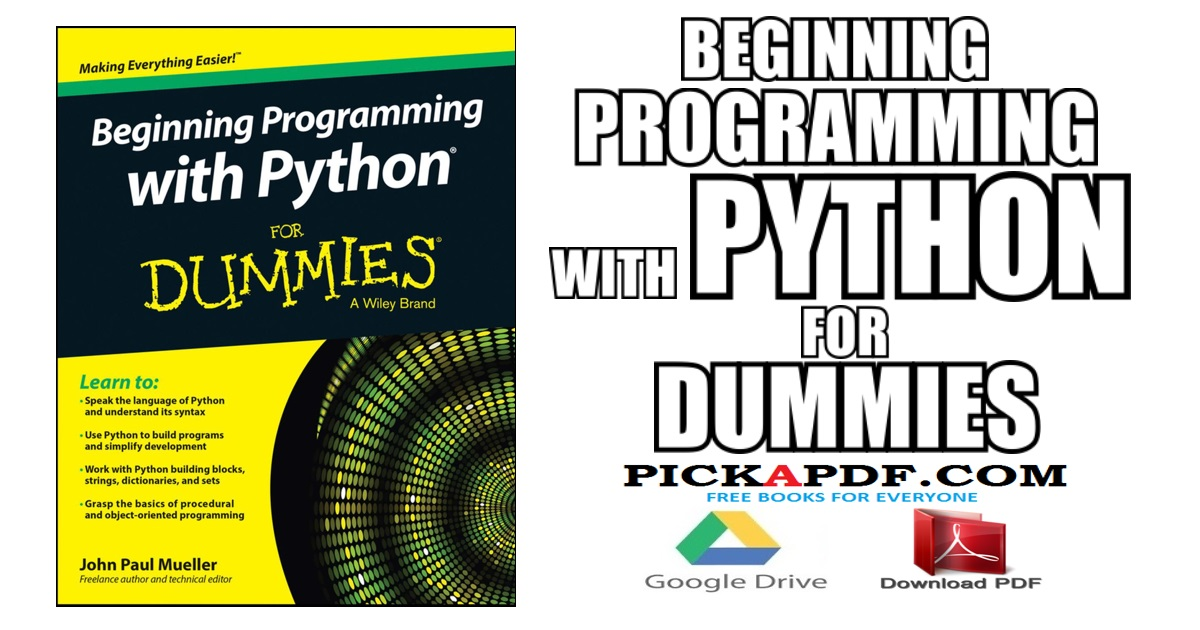 Beginning Programming With Python For Dummies Pdf Free Download