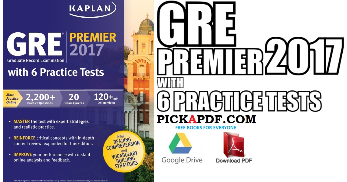 gre premier 2017 with 6 practice tests pdf