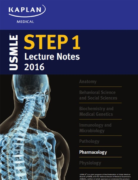 USMLE Step 1 Lecture Notes 2016: Pharmacology PDF