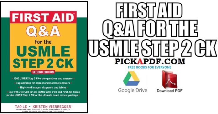 First Aid Q&A for the USMLE Step 2 CK PDF