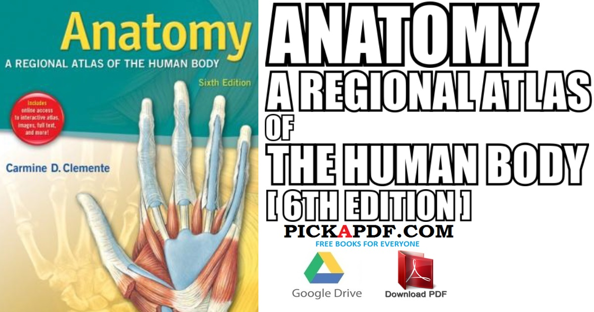 Anatomy A Regional Atlas Of The Human Body 6th Edition Pdf Free