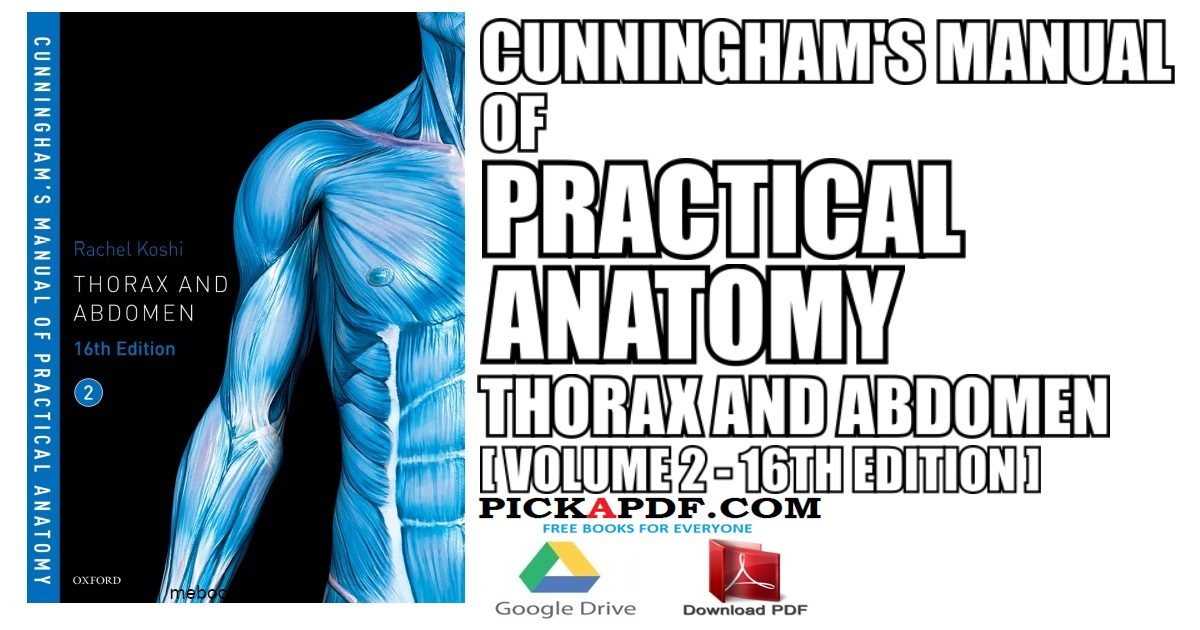 Cunningham's Manual of Practical Anatomy VOL 2 16th Edition PDF