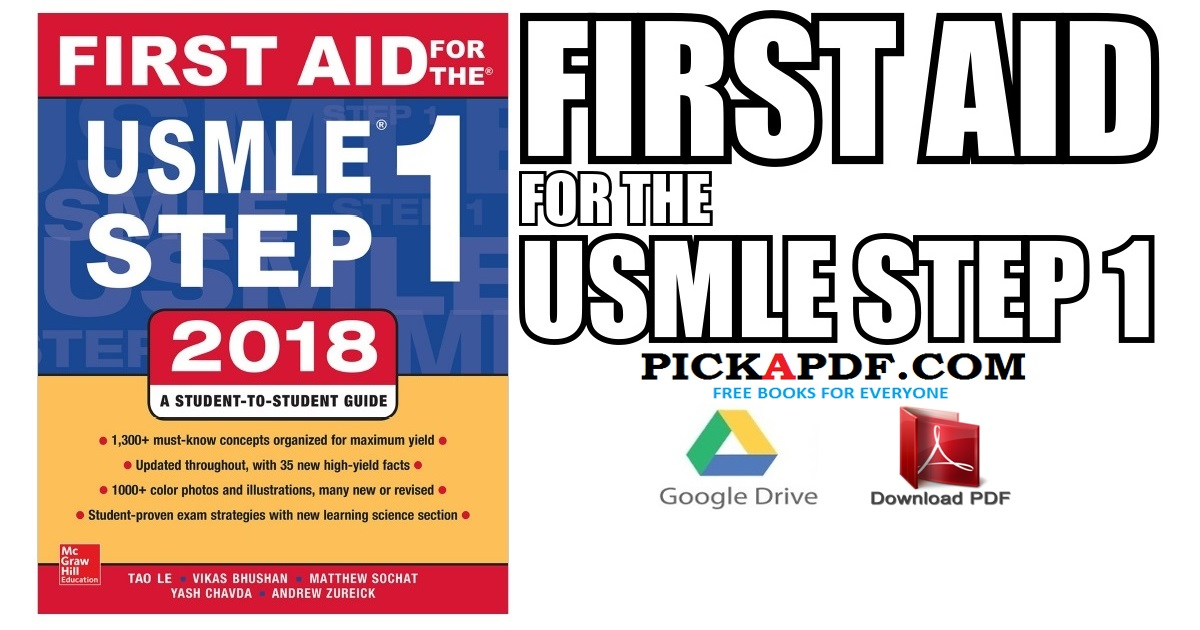 First Aid for the USMLE Step 1 2018 PDF Free Download