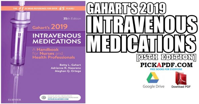 Gahart's 2019 Intravenous Medications 35th Edition PDF