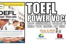 TOEFL Power Vocab: 800+ Essential Words to Help You Excel on the TOEFL PDF