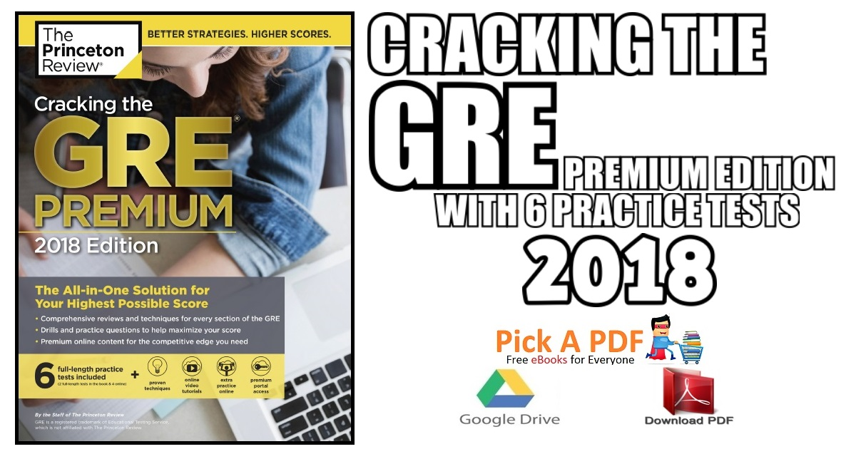 Cracking the GRE Premium Edition with 6 Practice Tests 2018 PDF Free ...