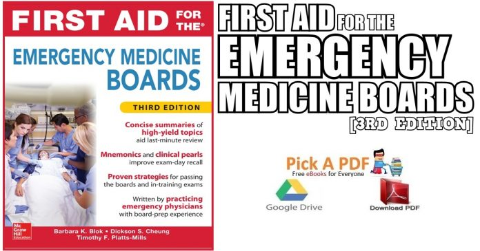 First Aid For The Emergency Medicine Boards 3rd Edition PDF