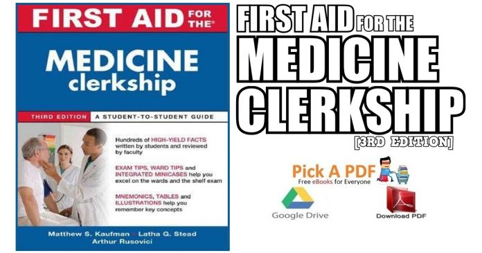 First Aid For The Medicine Clerkship 3rd Edition PDF