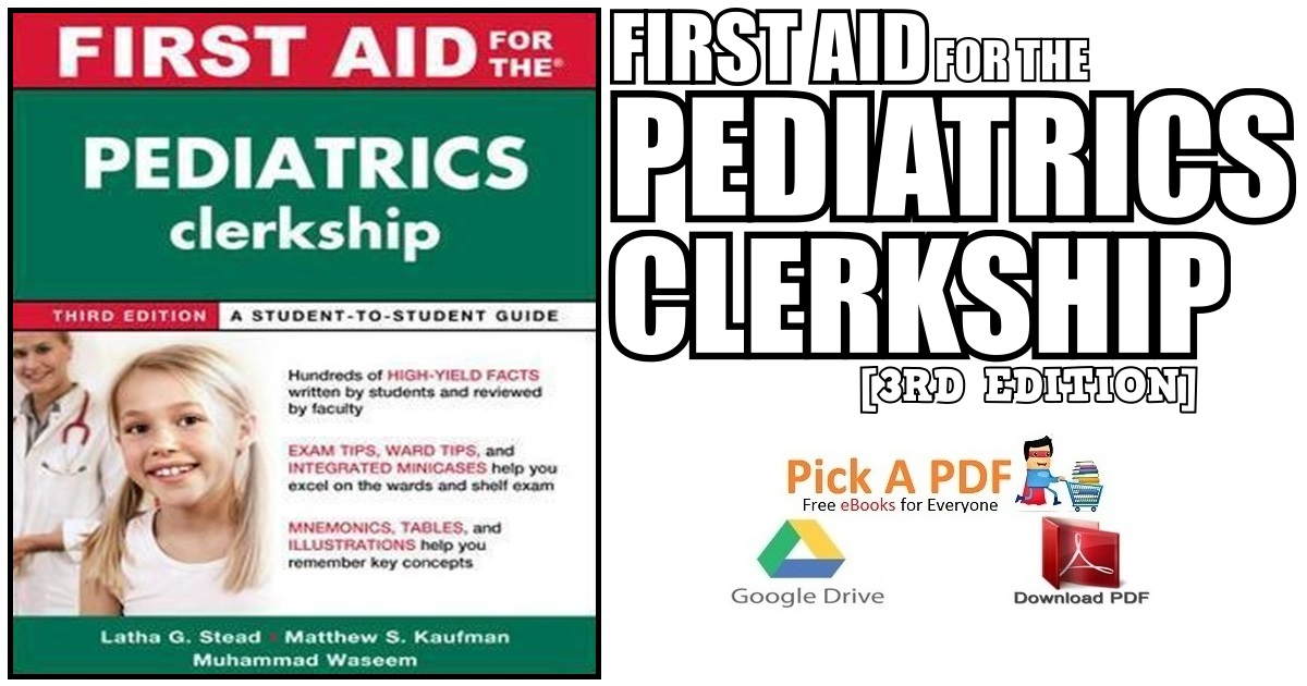 First Aid for the Pediatrics Clerkship 3rd Edition PDF Free