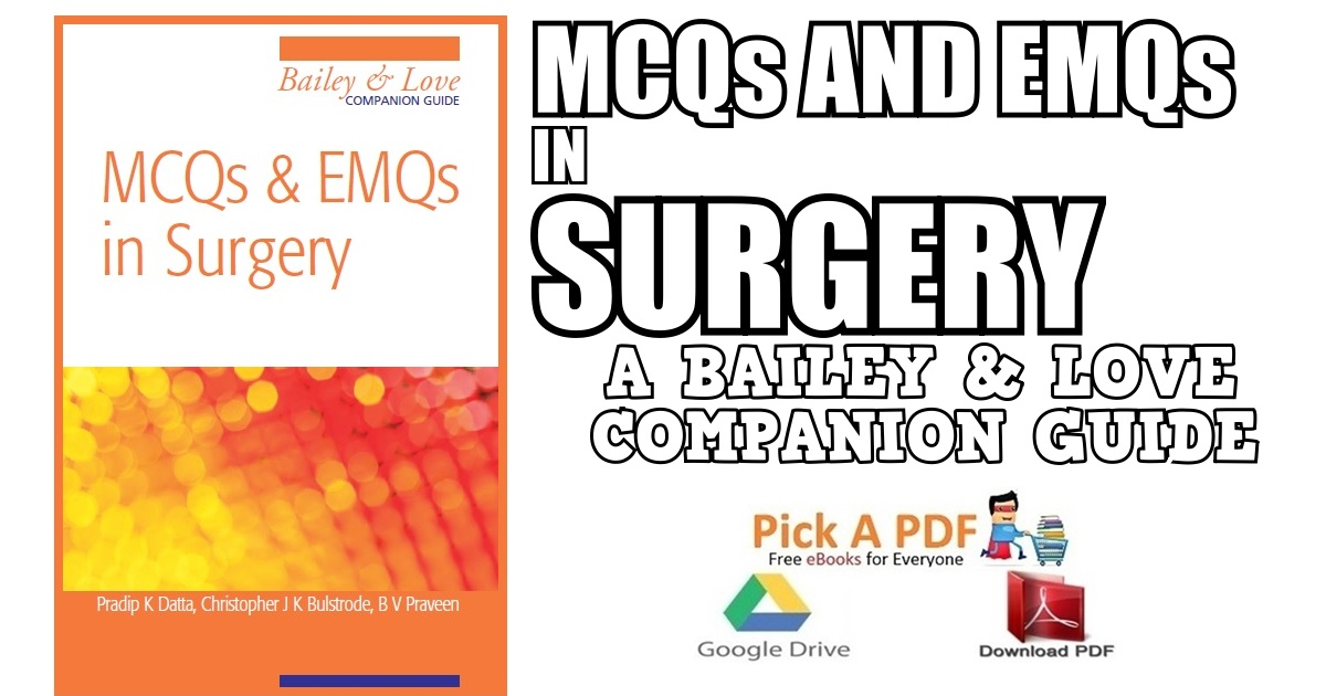 mcq surgery baily and lovr