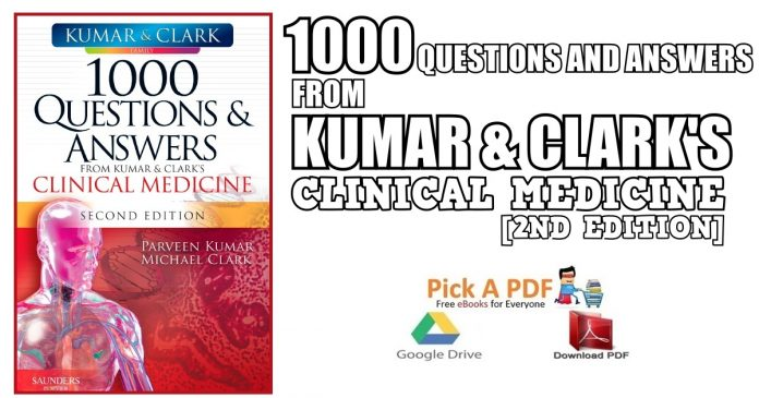 1000 Questions and Answers from Kumar & Clark's Clinical Medicine 2nd Edition PDF
