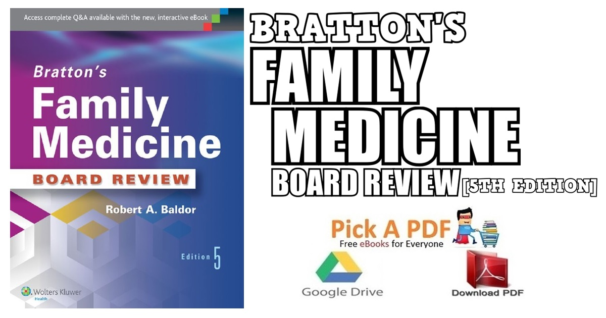 Bratton's Family Medicine Board Review 5th Edition PDF