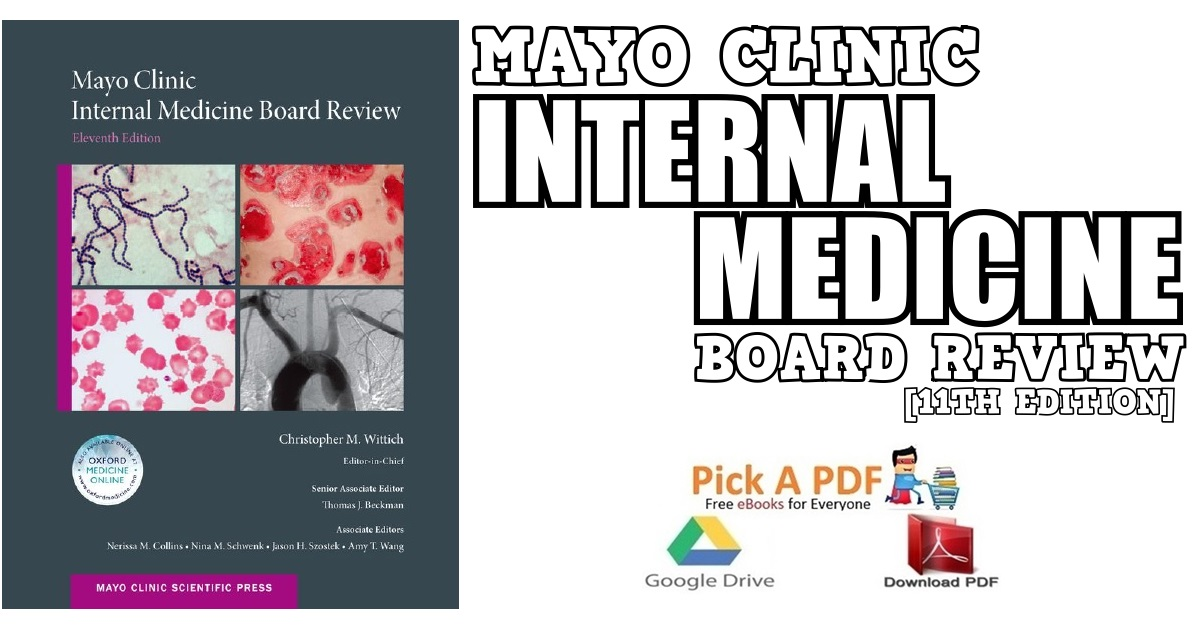 Mayo Clinic Internal Medicine Board Review PDF