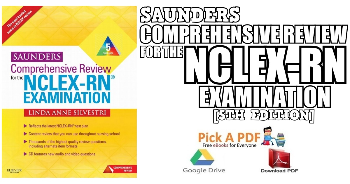 Saunders Comprehensive Review For The NCLEX RN Examination 5th Edition PDF