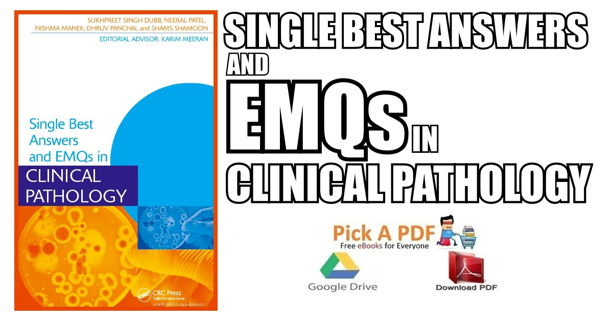 Single Best Answers and EMQs in Clinical Pathology PDF