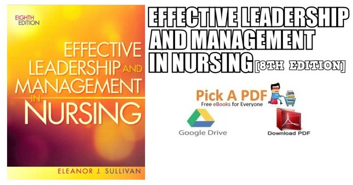 Effective Leadership and Management in Nursing 8th Edition PDF