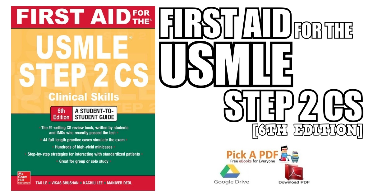 First Aid For The Usmle Step 2 Cs 6th Edition Pdf Free Download