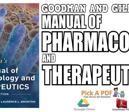 Goodman and Gilman Manual of Pharmacology and Therapeutics 2nd Edition PDF