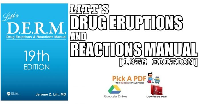 Litt's Drug Eruptions and Reactions Manual 19th Edition PDF