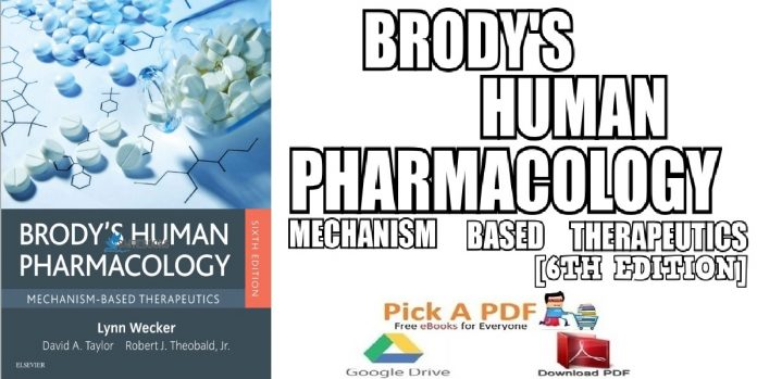 Brody's Human Pharmacology Mechanism-Based Therapeutics 6th Edition PDF