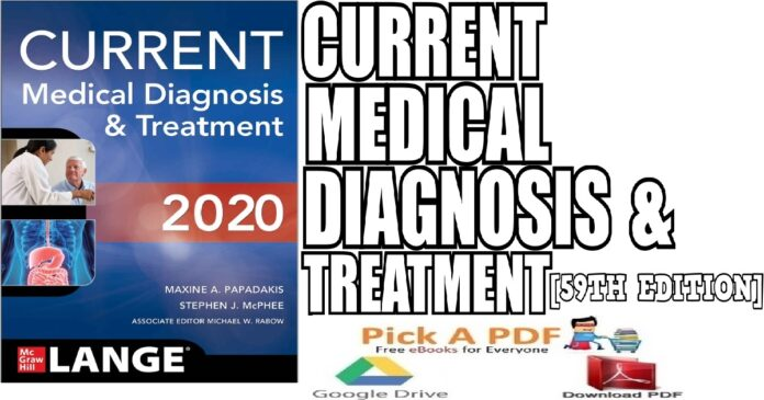 CURRENT Medical Diagnosis and Treatment 2020 59th Edition PDF